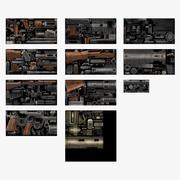 Collezione di pistole britanniche della seconda guerra mondiale 3d model
