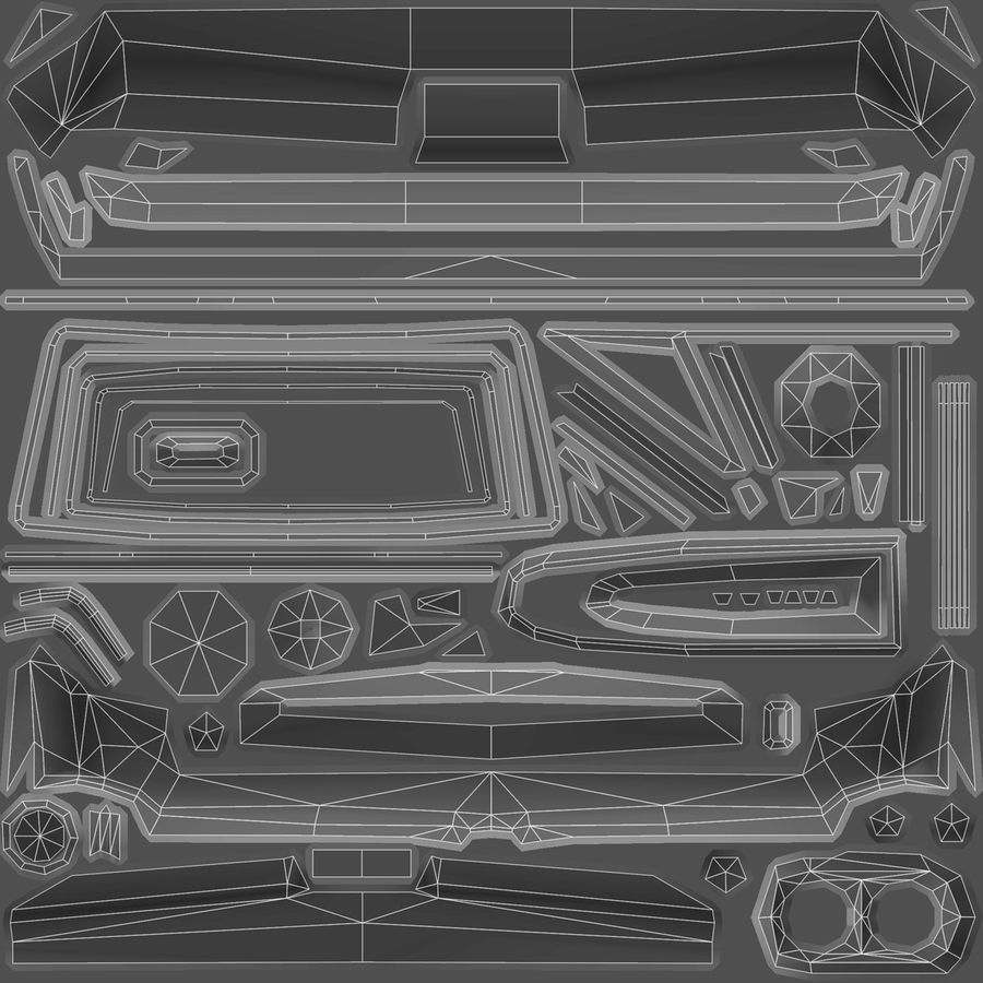 Muscle Car 1966 royalty-free 3d model - Preview no. 12