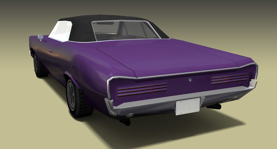 Muscle Car 1966 royalty-free 3d model - Preview no. 3