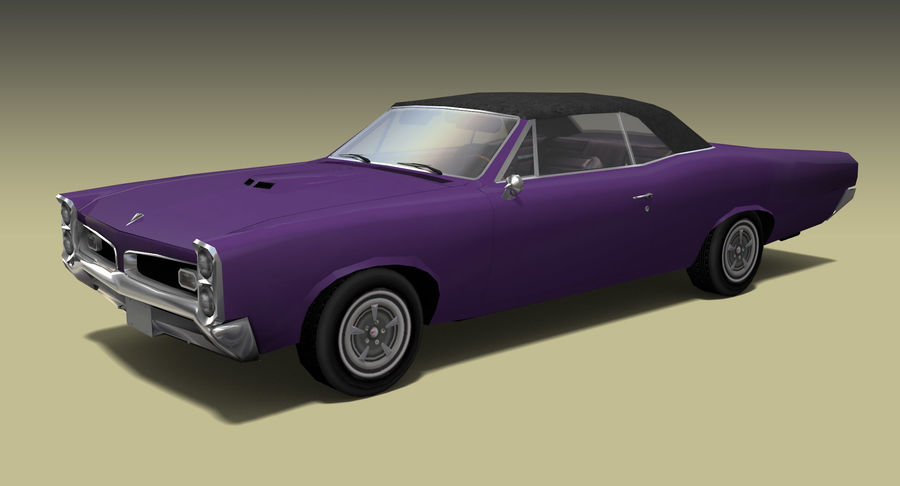 Muscle Car 1966 royalty-free 3d model - Preview no. 2