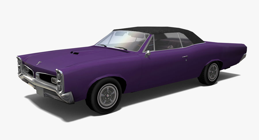 Muscle Car 1966 royalty-free 3d model - Preview no. 1