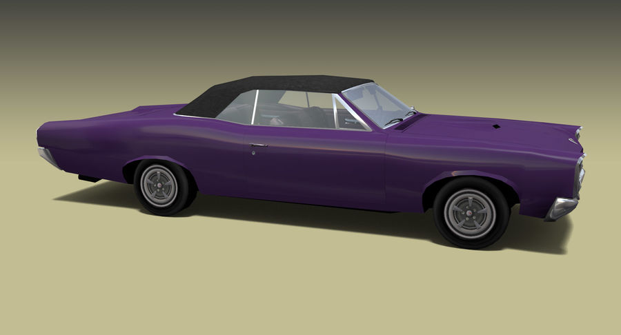 Muscle Car 1966 royalty-free 3d model - Preview no. 4