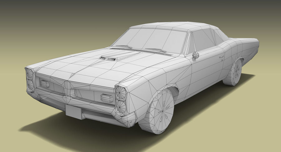 Muscle Car 1966 royalty-free 3d model - Preview no. 9