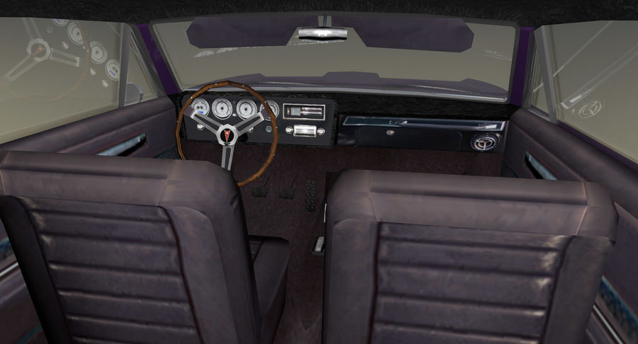 Muscle Car 1966 royalty-free 3d model - Preview no. 8