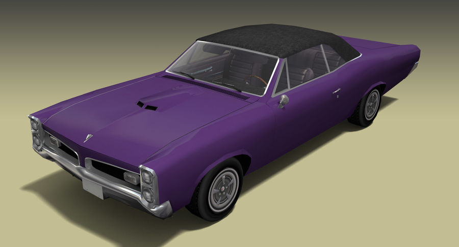 Muscle Car 1966 royalty-free 3d model - Preview no. 5