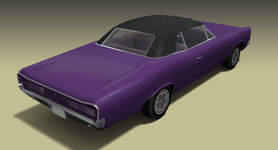 Muscle Car 1966 royalty-free 3d model - Preview no. 6