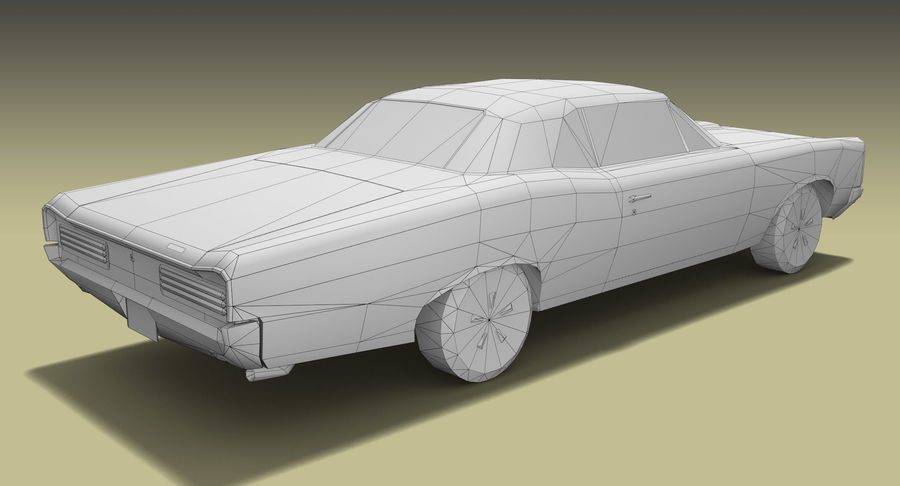 Muscle Car 1966 royalty-free 3d model - Preview no. 10