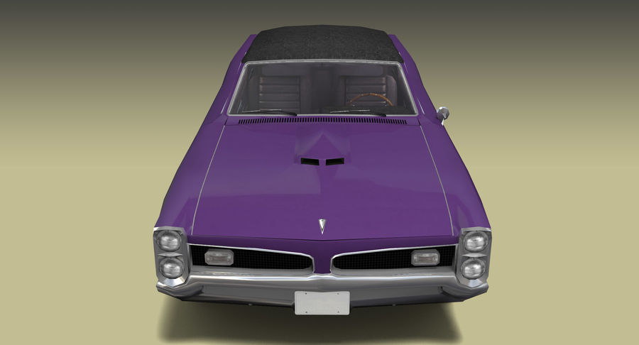 Muscle Car 1966 royalty-free 3d model - Preview no. 7