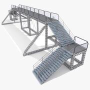 Pedestrain Metallic Overpass 3d model