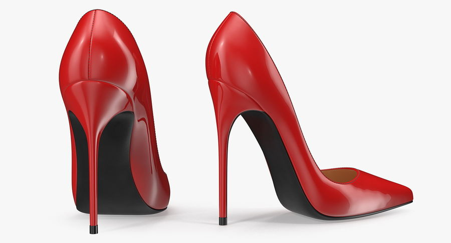 Tacones Altos royalty-free modelo 3d - Preview no. 4