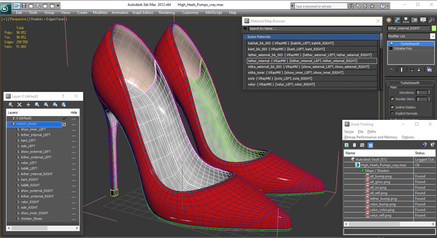 Tacones Altos royalty-free modelo 3d - Preview no. 15