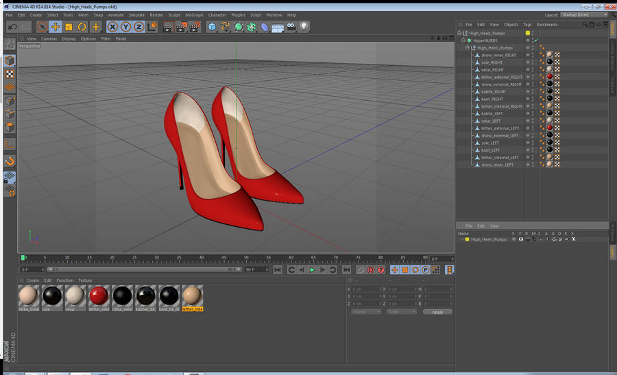 Tacones Altos royalty-free modelo 3d - Preview no. 14