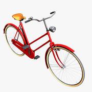 Classic Ladies bicycle 3d model