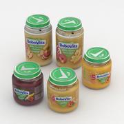 유아식 단지 Nutricia Bobovita Collection 125g 및 190g 3d model