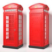 Red Telephone Box 3d model