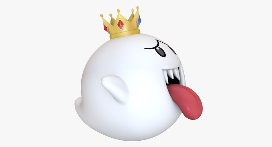 King Boo Super Mario Ghost royalty-free 3d model - Preview no. 5