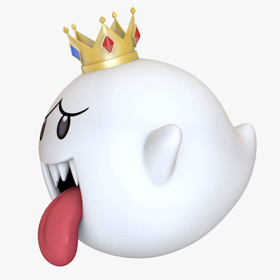 King Boo Super Mario Ghost royalty-free 3d model - Preview no. 1