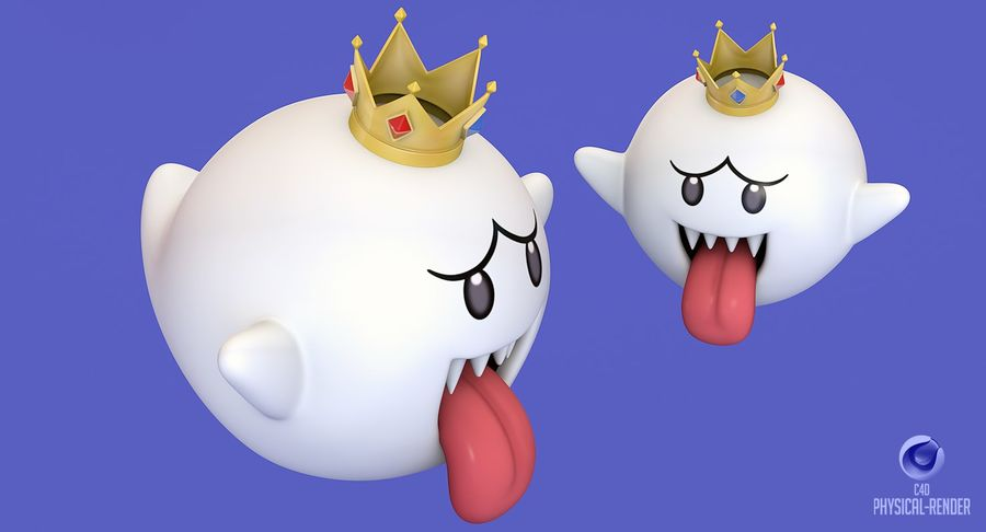 King Boo Super Mario Ghost royalty-free 3d model - Preview no. 11