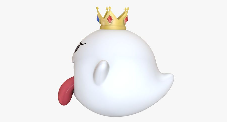 King Boo Super Mario Ghost royalty-free 3d model - Preview no. 7