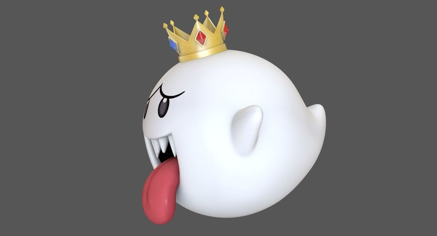 King Boo Super Mario Ghost royalty-free 3d model - Preview no. 2