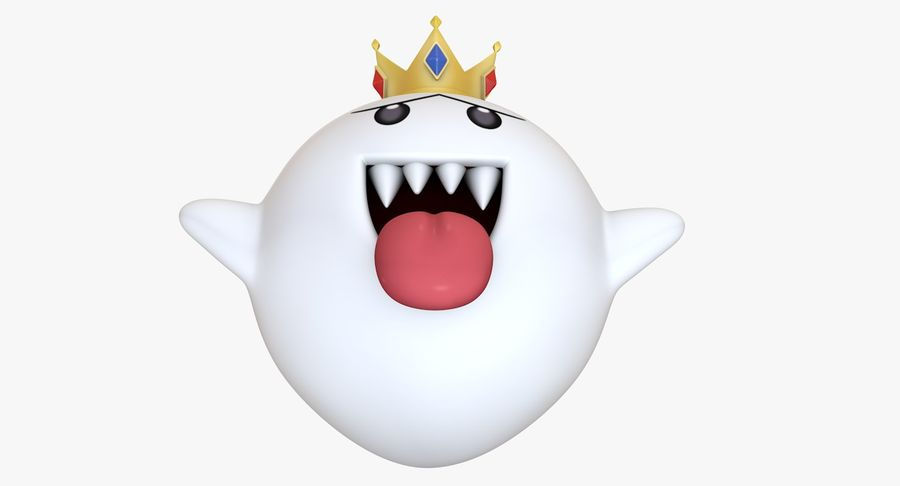 King Boo Super Mario Ghost royalty-free 3d model - Preview no. 4