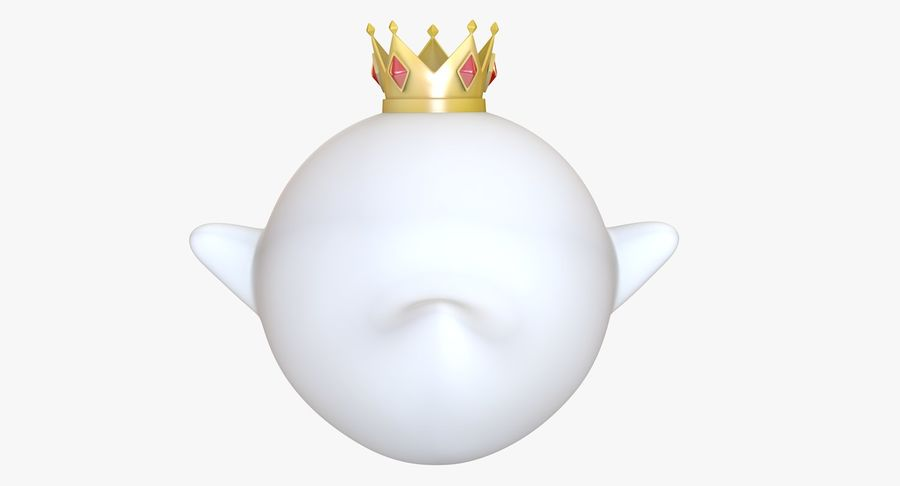 King Boo Super Mario Ghost royalty-free 3d model - Preview no. 6