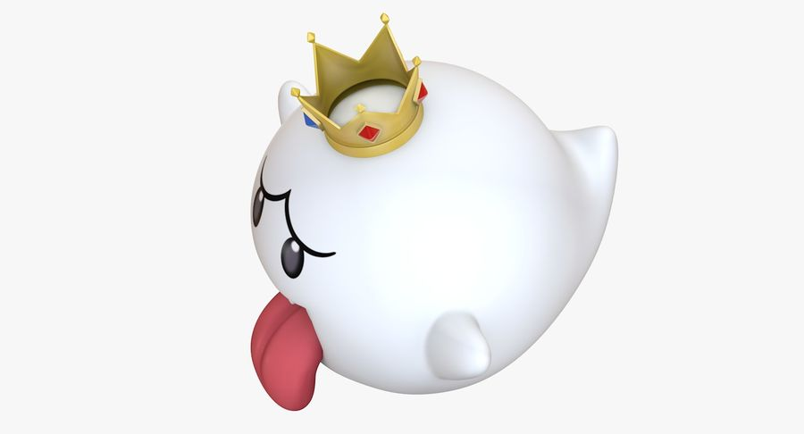King Boo Super Mario Ghost royalty-free 3d model - Preview no. 8