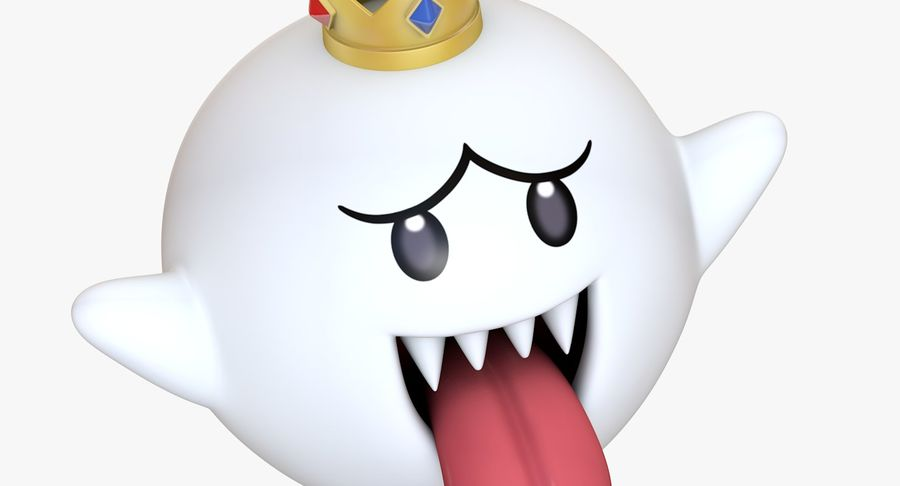 King Boo Super Mario Ghost royalty-free 3d model - Preview no. 10