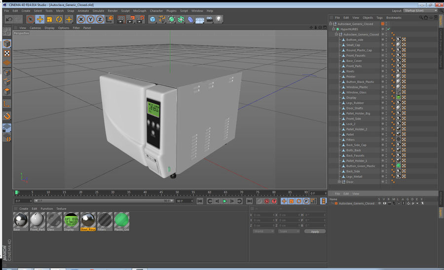 Autoclave Generic Closed royalty-free 3d model - Preview no. 15