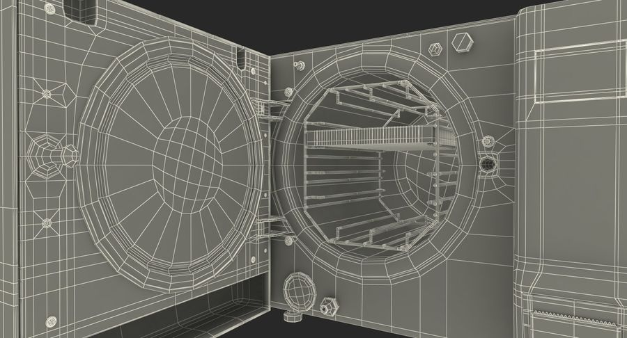 Autoclave Generic Closed royalty-free 3d model - Preview no. 17