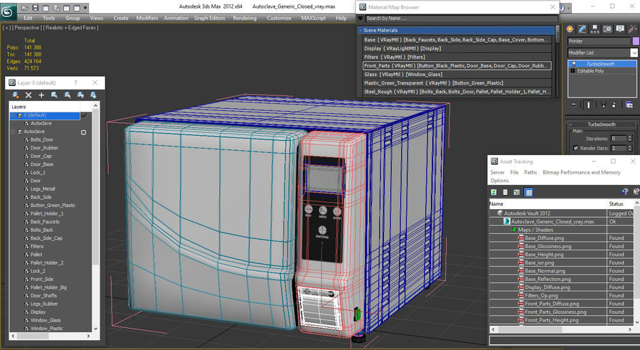 Autoclave Generic Closed royalty-free 3d model - Preview no. 16
