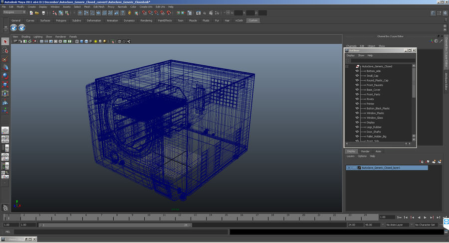 Autoclave Generic Closed royalty-free 3d model - Preview no. 14