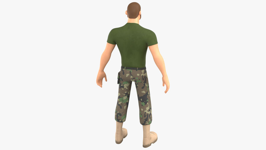 Stylized Soldier - PBR royalty-free 3d model - Preview no. 14