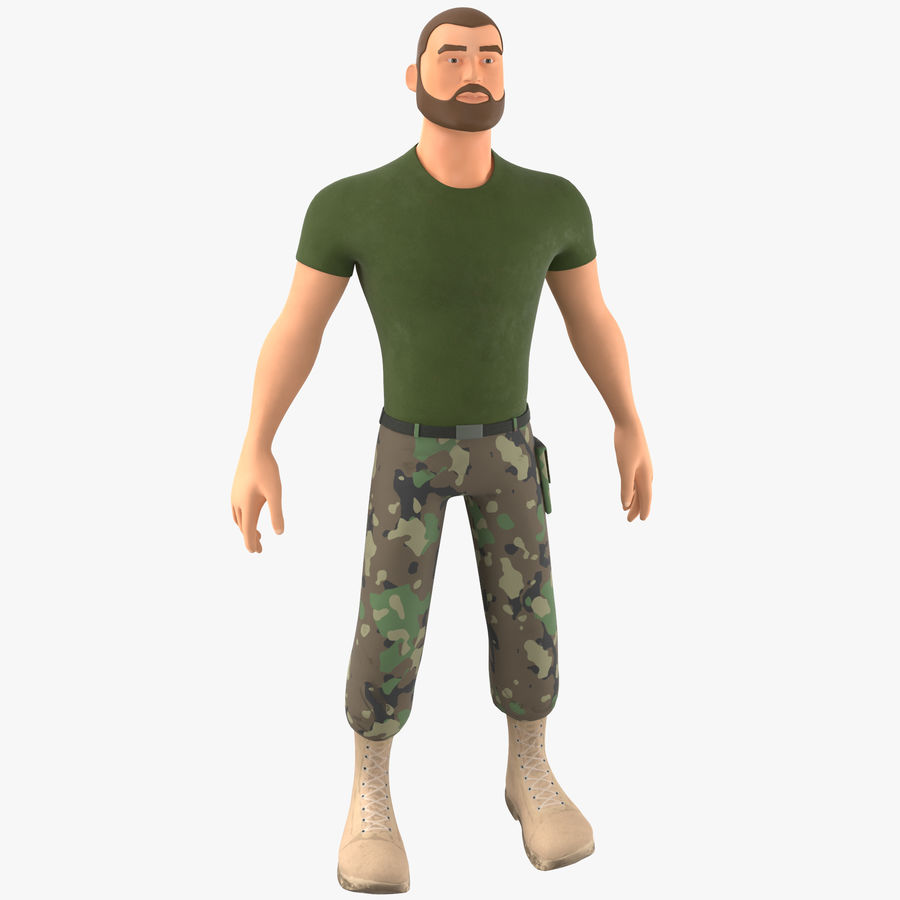 Stylized Soldier - PBR royalty-free 3d model - Preview no. 1