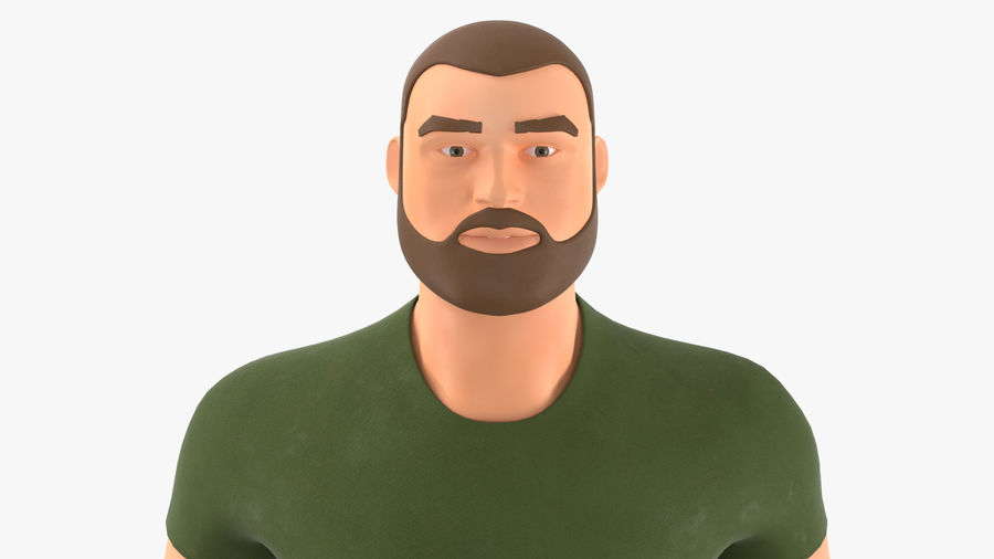 Stylized Soldier - PBR royalty-free 3d model - Preview no. 7