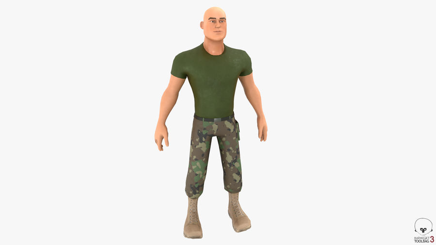 Stylized Soldier - PBR royalty-free 3d model - Preview no. 4