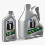 Butelki oleju syntetycznego Mobil 1 3d model