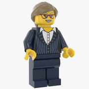 Lego Woman Executive 3d model