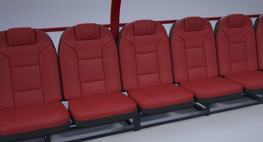 Soccer Bench royalty-free 3d model - Preview no. 9