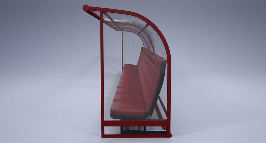 Soccer Bench royalty-free 3d model - Preview no. 4