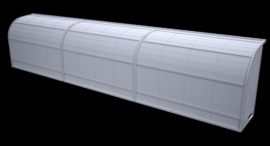 Soccer Bench royalty-free 3d model - Preview no. 13