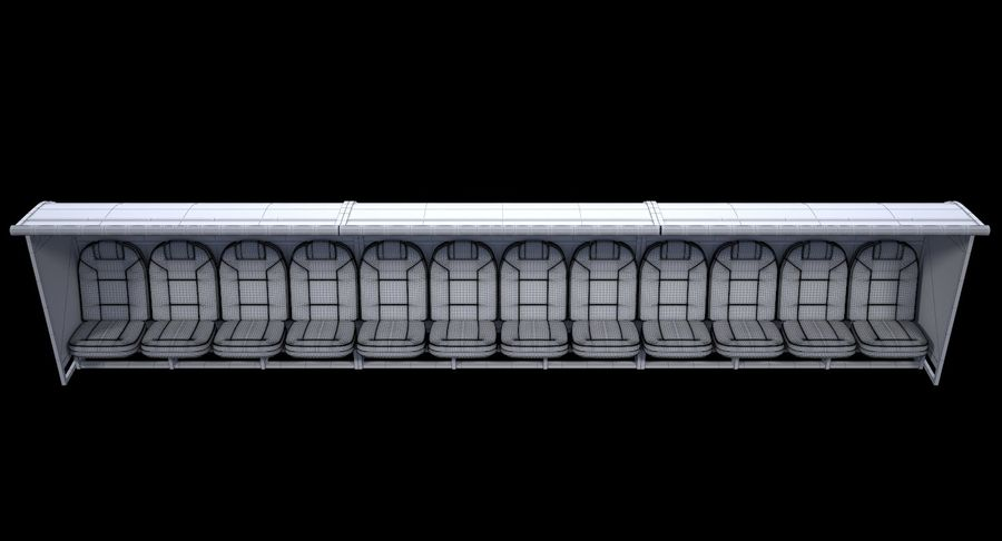 Soccer Bench royalty-free 3d model - Preview no. 14