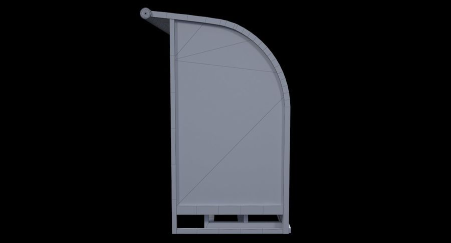 Soccer Bench royalty-free 3d model - Preview no. 12