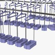 휴대품 보관소 행 3d model
