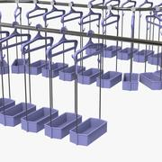 Cloakroom Hanger Line 3d model