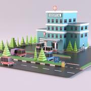 Krankenhaus 01 3d model