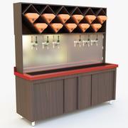 Gabinetto della birra del vino 3d model