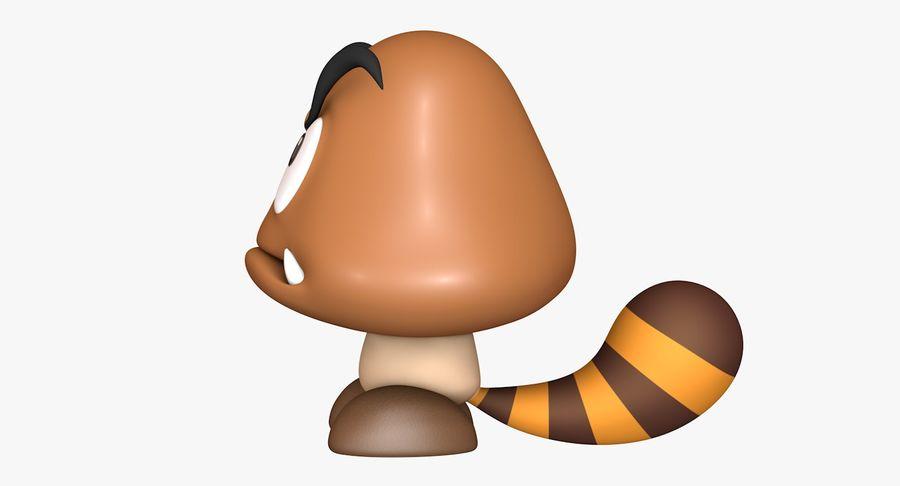 Cola Goomba Super Mario Activos royalty-free modelo 3d - Preview no. 8