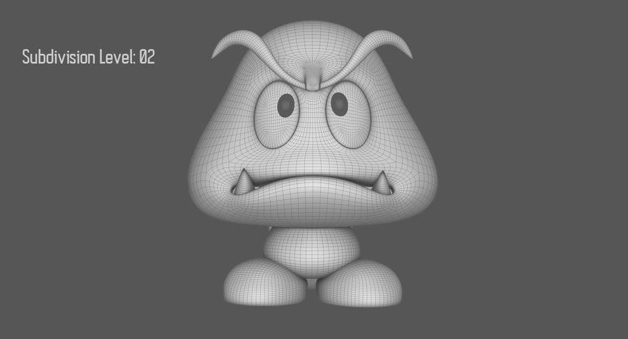 Cola Goomba Super Mario Activos royalty-free modelo 3d - Preview no. 17