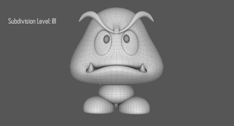 Cola Goomba Super Mario Activos royalty-free modelo 3d - Preview no. 16